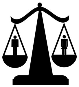 Scales indicating gender balance. Image from Dreamstime.