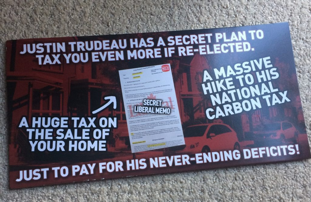 Conservative Party of Canada flyer